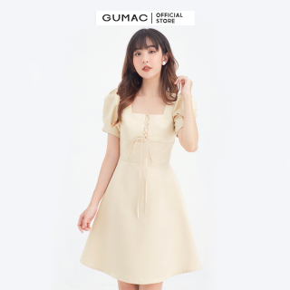Đầm nữ cổ vuông đan dây GUMAC DB667 thumbnail