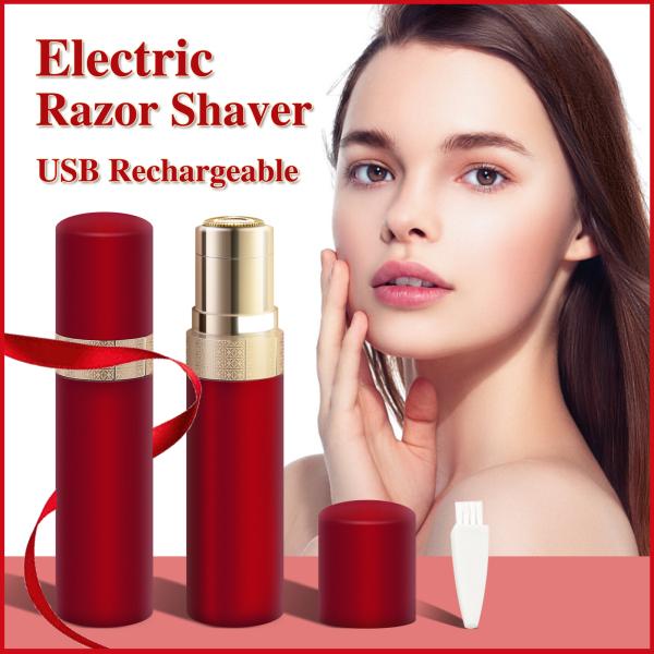 Tẩy lông mặt cho phụ nữ,Electric Razor Shaver for Women,Dao cạo râu điện cho nữ Tông đơ cắt tóc không đau có thể sạc lại USB Máy cạo lông điện cầm tay cho phụ nữ Dụng cụ thiết bị tẩy lông Máy cạo râu dành cho má, cằm trên cánh tay và