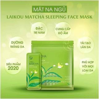 [5 miếng] Mặt nạ ngủ trà xanh LAIKOU dưỡng ẩm và chống lão hóa mặt nạ dưỡng da mặt nạ ngủ matcha mặt nạ nội địa Trung thumbnail