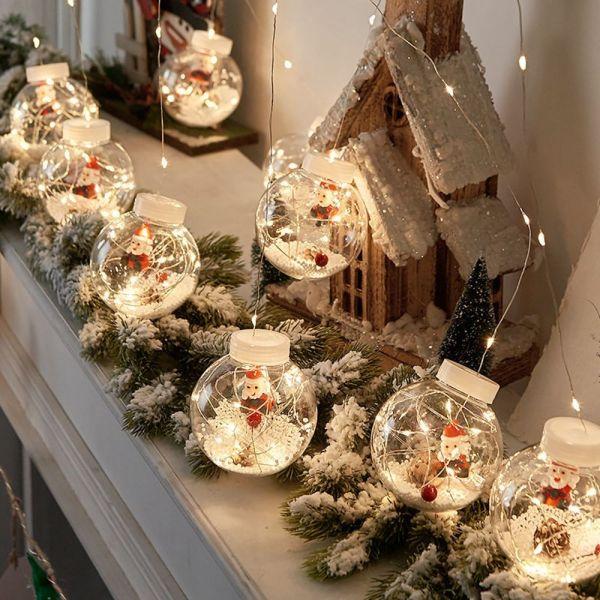 Bảng giá ERTGFG DẪN ĐẾN Người Tuyết Kết Thúc Quà Tặng Năm Mới Bóng Thủy Tinh Ông Già Noel Quả Cầu Trang Trí Cho Cây Thông Noel Trang Trí Giáng Sinh Ánh Sáng