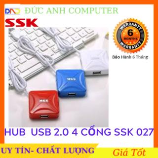 Hub USB 4 cổng 20 SSK SHU 027 - bộ mở rộng thêm 4 cổng USB - chính hãng 100% thumbnail