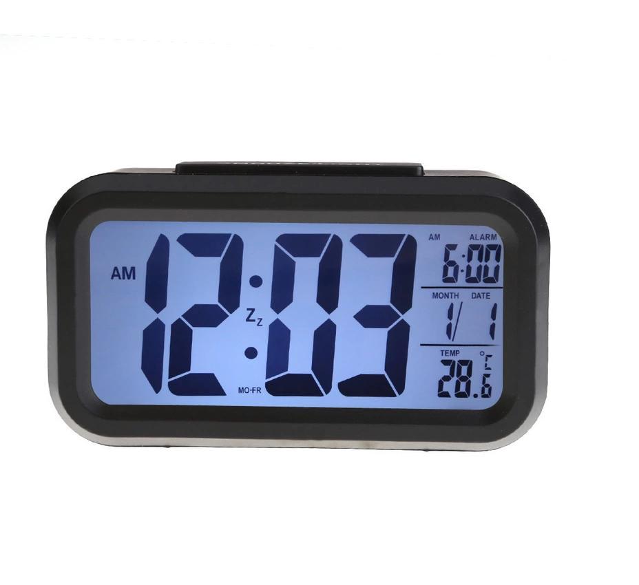 Nơi bán Đồng hồ báo thức kỹ thuật số với đèn LED nền cảm biến đa chức năng LC01 (Đen) 1000000191