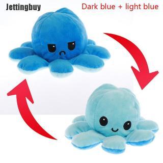 [Jettingbuy] 01 x Bạch tuộc nhồi bông thay đổi cảm xúc lật hai mặt - INTL thumbnail