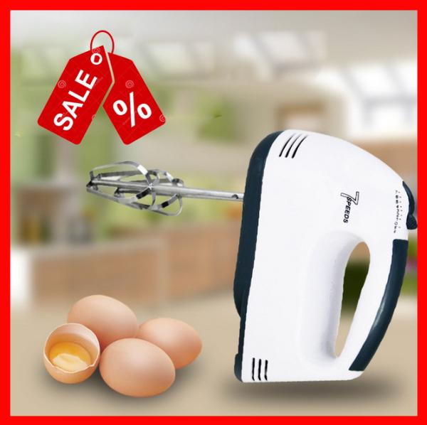 Máy đánh trứng cầm tay, máy đánh bột làm bánh 7 mức tốc độ - tiện dụng