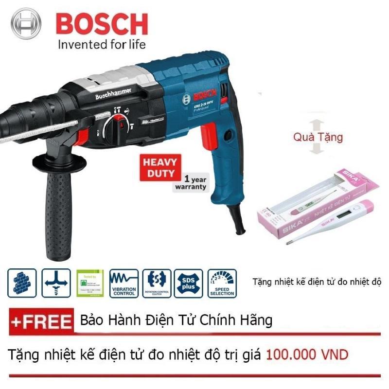 Máy khoan búa Bosch GBH 2-28 DFV + Quà tặng nhiệt kế điện tử