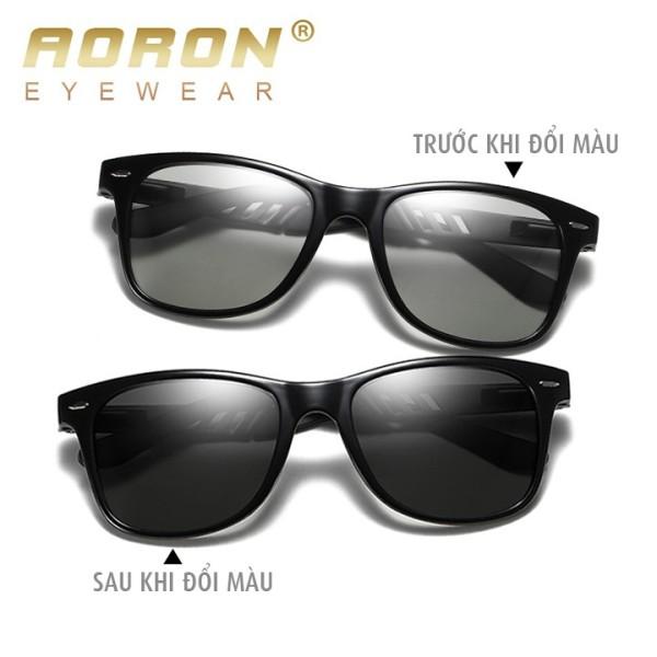 Giá bán Kính NAM đổi màu đi ngày và đêm AORON, Khung nhôm magie bản lề lò xo, mắt kính polarized phân cực, chống UV