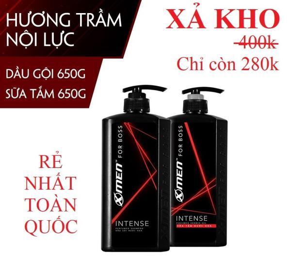 Combo Dầu Gội Nước Hoa XMen For Boss Motion/Intense/Luxury 650g + Sữa Tắm Nước Hoa XMen For Boss 650g