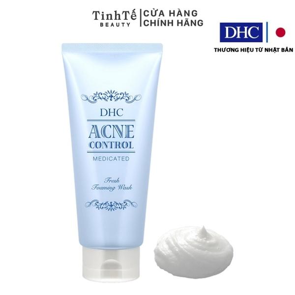 Sữa rửa mặt hỗ trợ ngừa mụn DHC Acne Control Fresh Foaming Wash 120ml