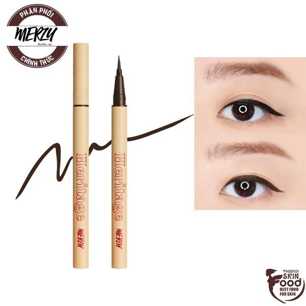 Bút Kẻ Mắt Nước Chống Trôi Hiệu Quả Cho Đôi Mắt Sắc Nét Merzy The Heritage Pen Eyeliner 0.5g