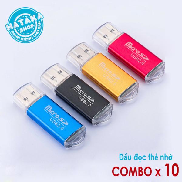 Bảng giá Gía sỉ combo 10 đầu đọc thẻ nhớ microSD/TF vỏ nhôm Phong Vũ