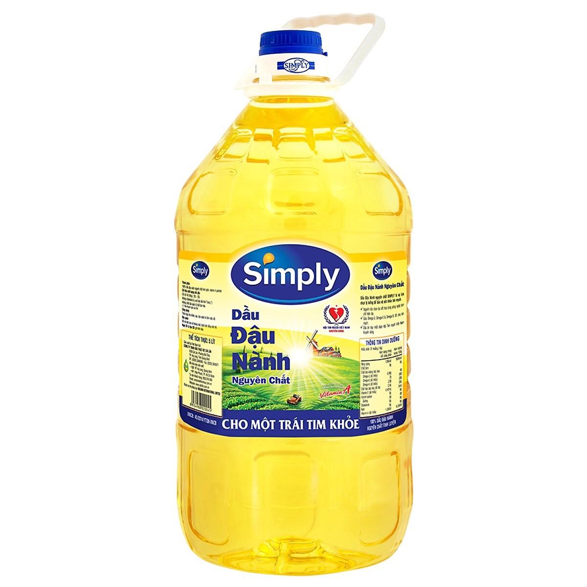 Dầu Đậu Nành Simply (5L / Chai)