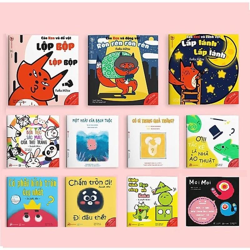 Mua Combo 11 cuốn ehon Nhật Bản phát triển trí não cho bé 0-6 tuổi