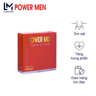 Bao cao su Powermen Tighter & Closer Size nhỏ 49mm Ôm sát Hộp 3 chiếc thumbnail