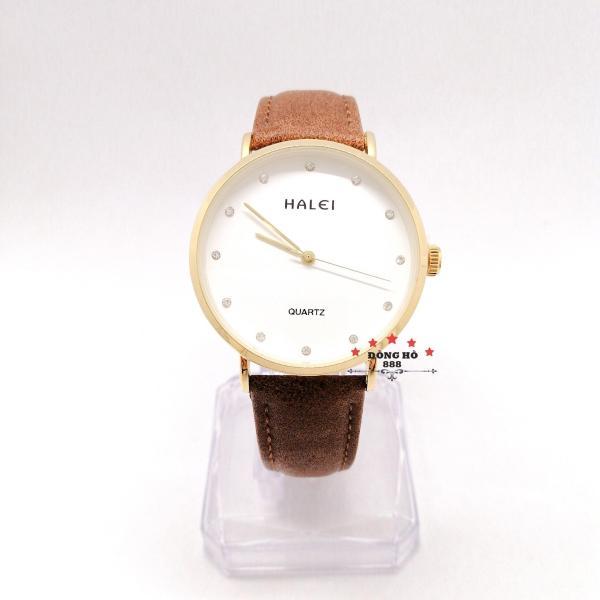 Đồng hồ nữ HALEI dây da thời thượng - TẶNG 1 vòng tỳ hưu phong thuỷ bán chạy