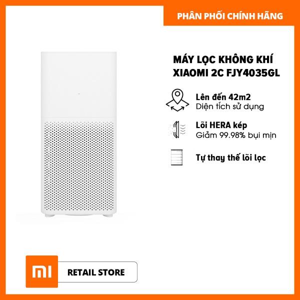 Bảng giá Máy lọc không khí Xiaomi 2C FJY4035GL phù hợp với diện tích 42m2 (Trắng) - Hàng phân phối chính hãng - Công suất thanh lọc: 350 mét khối mỗi giờ, Diện tích sử dụng lên đến 42m2, Công suất định mức: 33W