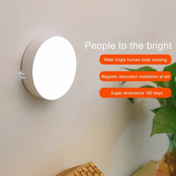 Bảng giá LED PIR Wireless Motion Sensor Night Light USB Charging Magnetic Smart Night Lamp for Bedroom Stairs Cabinet Wardrobe Kitchen