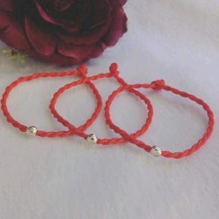 Vòng dây đỏ mic bi bạc phay chất liệu bạc thật dành cho cả nam và nữ thích hợp đeo phong thủy mang lại may mắn tài lộc cho thí chủ - BSVDD1 thumbnail