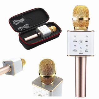 Mic Kèm Loa Karaoke, Mua Micro Bluetooth Q7 NA626, Mich Hat Tren Dien Thoai - Micro Hát Karaoke Mic Kèm Loa Bluetooth 3 Trong 1 Mẫu mới nhất 2020 thumbnail