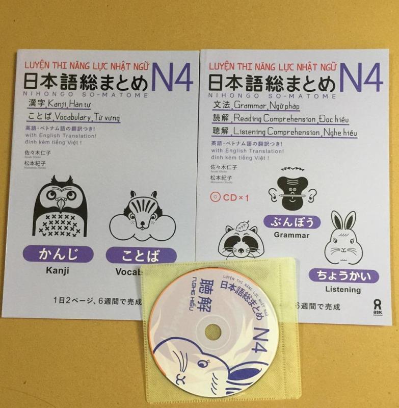 Mua luyện thi năng lực tiếng nhật soumatome N4 bản dịch tiếng việt