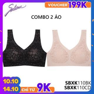 [MUA 1 TẶNG 1] Combo 2 Áo Lót Không Viền May Mút Vừa Phối Ren Sexy Fashion Soft Collection By Sabina SBXK110+SBXK110 thumbnail