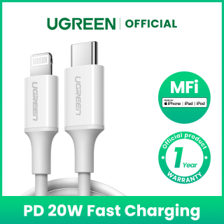 UGREEN MFi USB C to Ligtning Cable for iPhone 12 11 Pro 11 X XS XR 8 7 PD Fast Charging USB Type C Cable Data Cable for Macbook USB Cord thumbnail