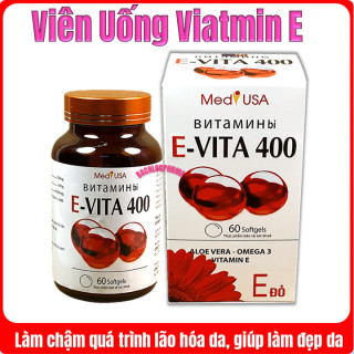 Viên uống đẹp da Evita 400 - Giúp Da Trắng Sáng, Mờ Các Vết Thâm Sẹo, Nám Tàn Nhang-Hộp 60 Viên thumbnail
