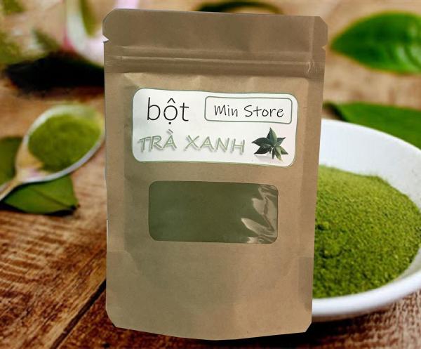 100g bột trà xanh mịn - nguyên chất 100% - túi 100g