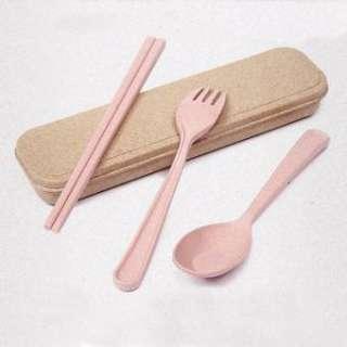 Bộ đũa thìa dĩa lúa mạch - hình 1
