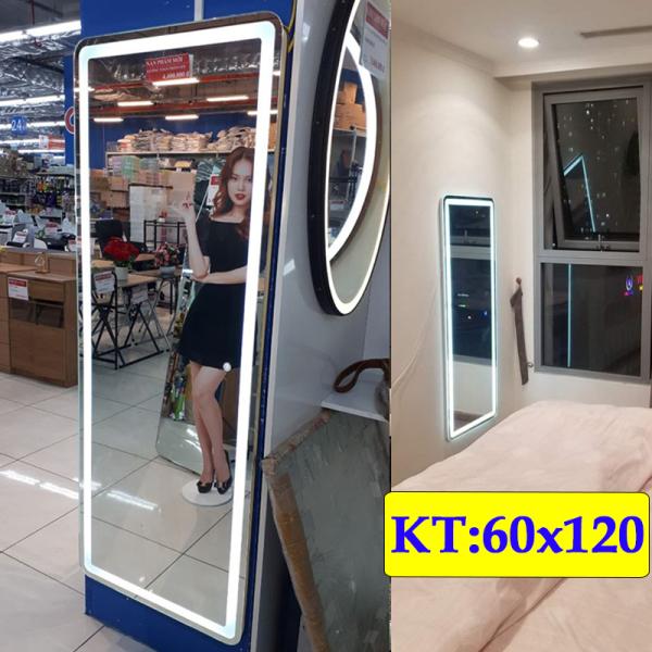 Gương Hoàng Kim gương soi toàn thân hiện đại  led cảm ứng 3 chạm hoặc 3 màu thông minh kích thước 50x120-60x120 cm ghk- 1003v