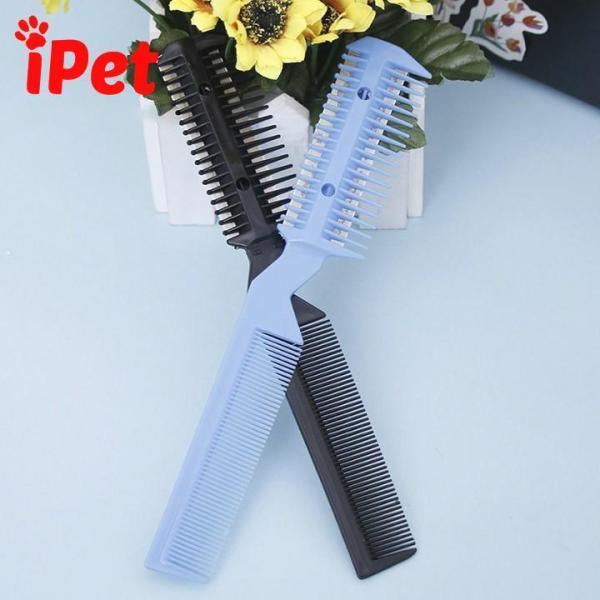 Lược chải lông 2 đầu kèm chải cắt lông rối- iPet Shop