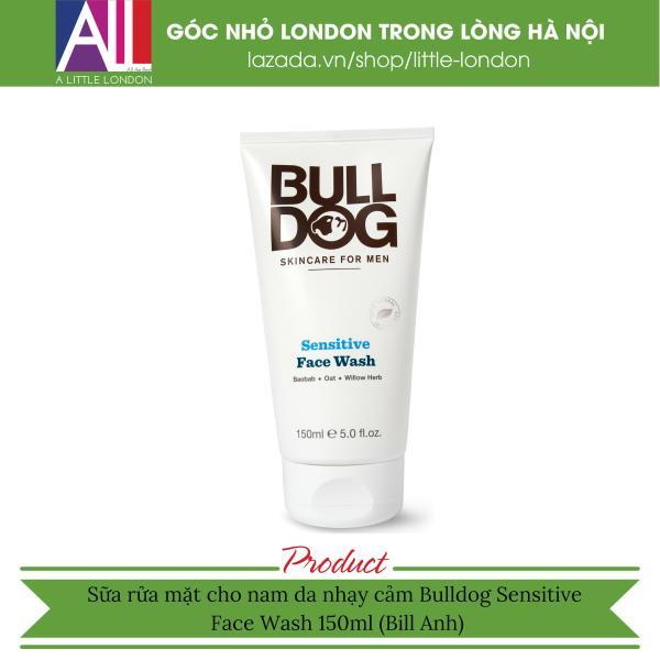 Sữa rửa mặt cho nam da nhạy cảm Bulldog Sensitive Face Wash 150ml (Bill Anh)