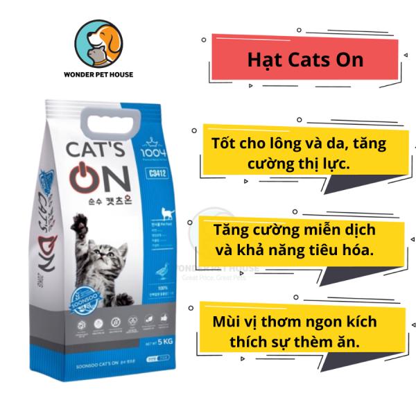 Hạt Cho Mèo Cat On Túi Zip 1Kg - Cats On Hàn Quốc Chất Lượng - Đạm Cao - Hỗ Trợ Dinh Dưỡng