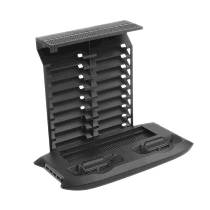 Multifunctional Base Fan Bracket Cooling Disc Rack Bracket Cooling Fan Cooler + Base Charger + CD Rack Suitable for XBOX ONE