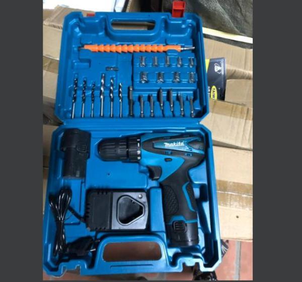 Máy Khoan Pin Makita 12V Đầy Đủ Phụ Kiện Loại 2 Pin