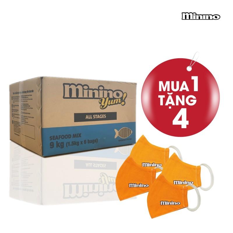 Thức ăn cho mèo Minino Yum thùng 9kg (6 túi x 1,5kg)