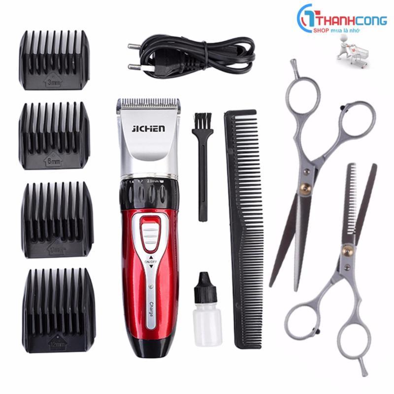 Tông đơ cắt tóc gia đình Jichen JC-0817 + Tặng 1 bộ kéo cắt và tiả tóc giá rẻ