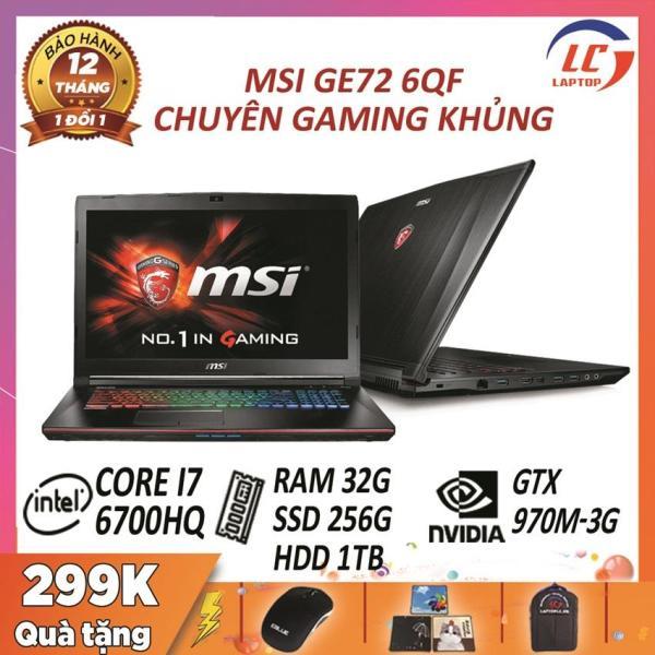 Bảng giá Laptop Gaming Giá Rẻ, Laptop Giá Rẻ MSI GE72 6QF, i7-6700HQ, VGA Rời Nvidia GTX 970M-3G, Màn 17.3 FullHD, Laptop Gaming Phong Vũ