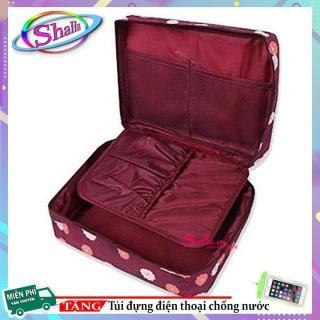 Giá Hủy Diệt Túi đựng đồ mỹ phẩm du lịch - Túi Mỹ Phẩm Bông Hoa E2 Shalla Tặng túi đựng điện thoại chống nước Hàng Mới Về thumbnail