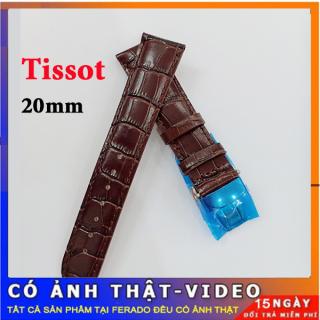 [SALE SỐC] Dây đồng hồ Tissot da cá sấu khóa bạc size 20mm CAO CẤP thumbnail