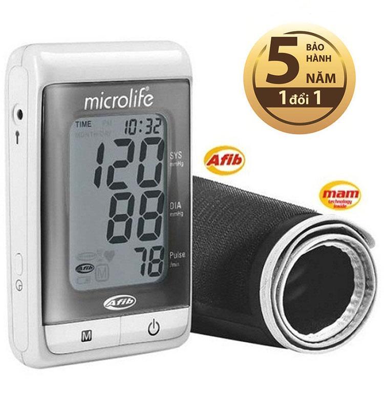 Máy đo huyết áp bắp tay Microlife A200 (Trắng phối xám)