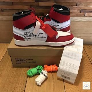 Giày Thể Thao Sneakers Air Jordan 1 OFF WHITE Retro High Chicago đỏ Trắng Cổ Cao Cực Thời Trang Cho Nam Và Nữ Clever Man Store thumbnail