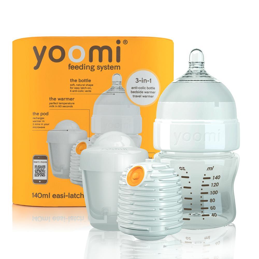Bộ bình sữa PP cao cấp Yoomi và củ hâm sữa tự động (bình 140ml) Y15B1WP