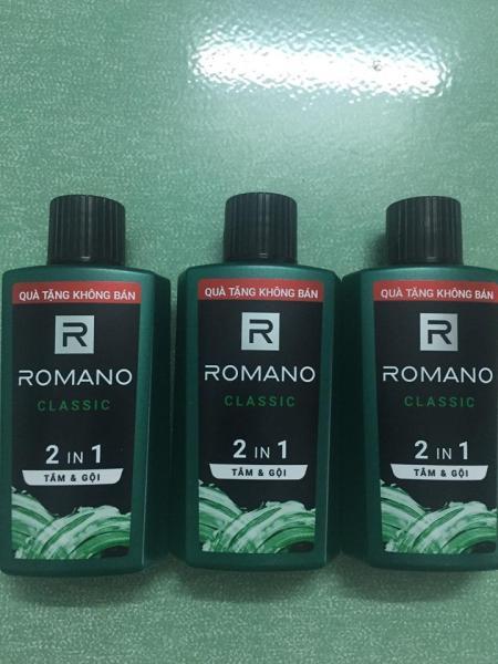 combo 3 chai romano classic tắm và gội 2 trong 1 60g cao cấp