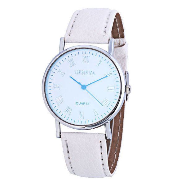 Blue light watch, Unisex woman watch, fashion man watch, real belt quartz watch, gift watch KJ4A Malaysia