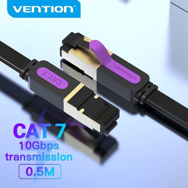 Vention dây cáp mạng lan Cat 7 Ethernet Cable Flat RJ45 Internet Cable dây mạng Cat7 STP Network Wifi Cable Patch Cord Cable 1M 2M 3M 5M 10M 20M Cho PC Router Ethernet Cable Cat 7