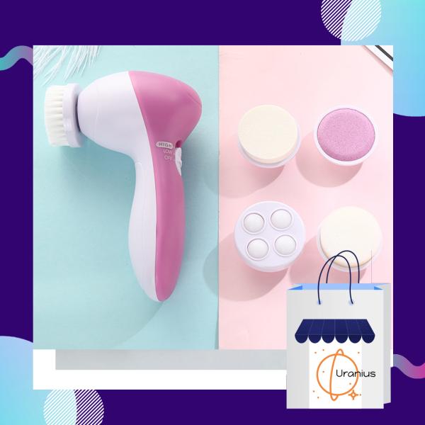 Máy rửa mặt. Máy massage mặt cầm tay. Massage 5 trong 1 cao cấp. Tiện sử dụng ở mọi nơi, tiết kiệm thời gian và chi phí.