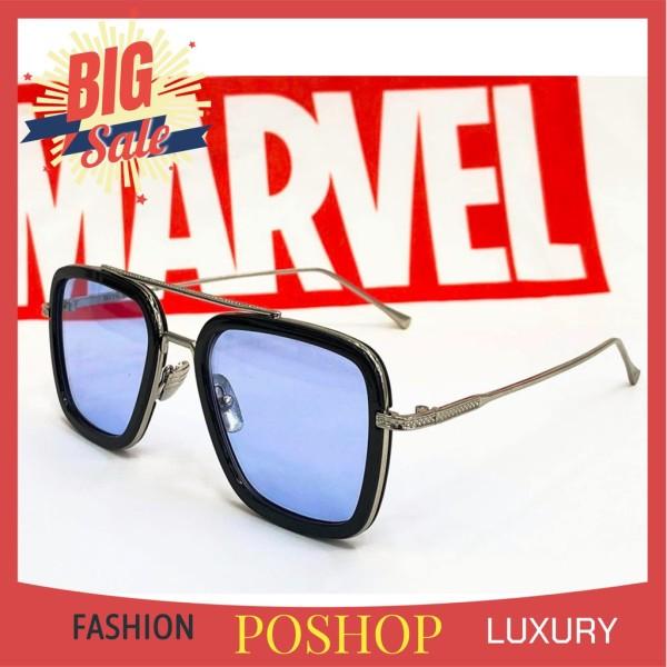Giá bán MẮT Kính râm IRON MAN EDITH cao cấp kính mát vuông gọng kim loại Avenger cho NAM HOT TREND