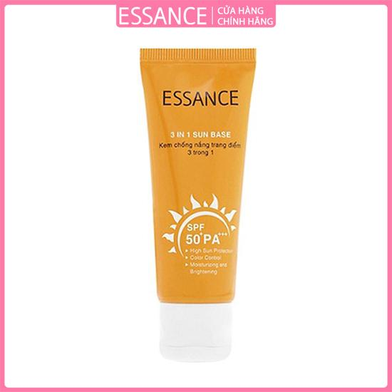 Kem chống nắng 3 trong 1 Essance 3 In 1 Sun Base SPF 50+ Pa+++ 30ml
