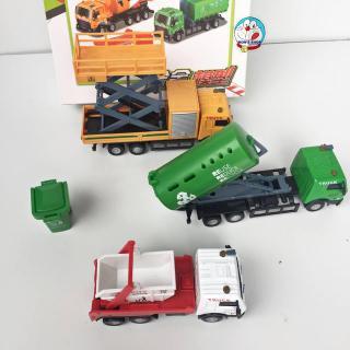 Đồ chơi set 3 chiếc xe ô tô công trình, chở rác bằng sắt siêu đẹp thumbnail