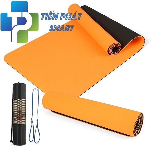 Thảm tập yoga TPE 2 lớp 6mm cao cấp(Tặng Túi Lưới Đựng+Dây buộc)